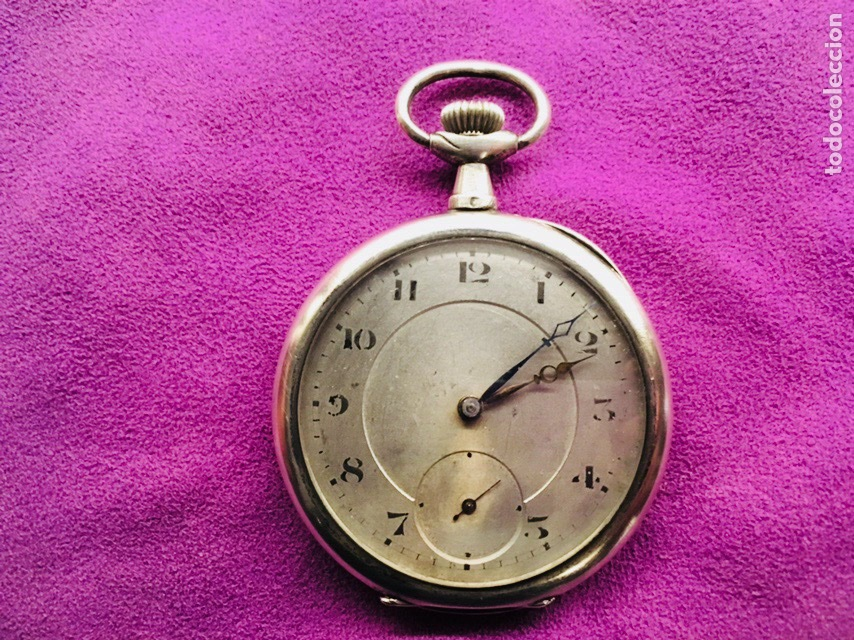 RELOJ CUERDA BOLSILLO PLATA -- ÁNCORA (Relojes - Bolsillo Carga Manual)