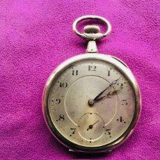 Relojes de bolsillo: RELOJ CUERDA BOLSILLO PLATA -- ÁNCORA. Lote 110133618