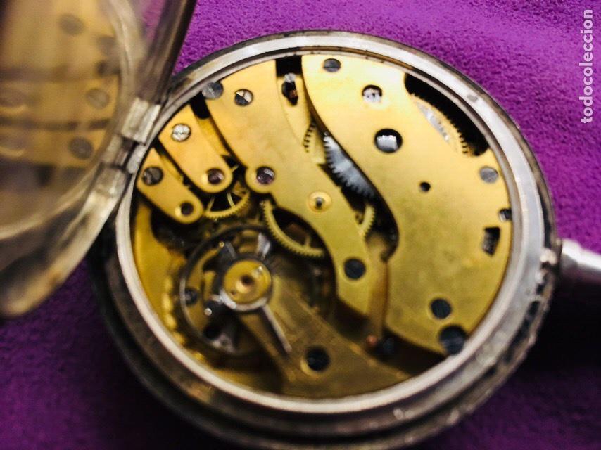 Relojes de bolsillo: Reloj cuerda bolsillo plata -- áncora - Foto 3 - 110133618