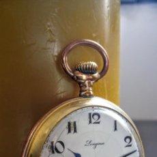 Relojes de bolsillo: RELOJ DE BOLSILLO LONGINES PLACADO EN ORO C. 1900-1910. Lote 110864623