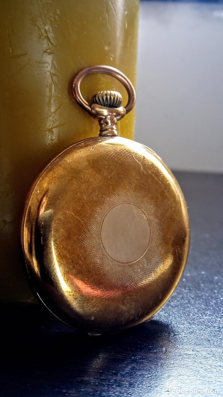 Relojes de bolsillo: Reloj de bolsillo Longines placado en oro c. 1900-1910 - Foto 2 - 110864623