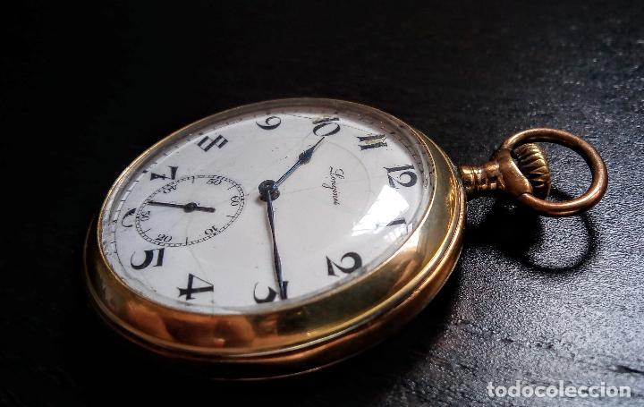 Relojes de bolsillo: Reloj de bolsillo Longines placado en oro c. 1900-1910 - Foto 3 - 110864623