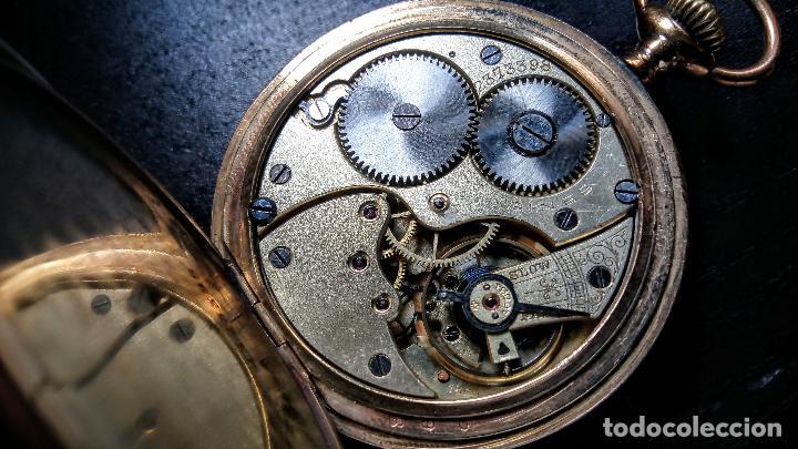 Relojes de bolsillo: Reloj de bolsillo Longines placado en oro c. 1900-1910 - Foto 4 - 110864623