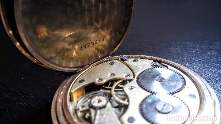 Relojes de bolsillo: Reloj de bolsillo Longines placado en oro c. 1900-1910 - Foto 5 - 110864623