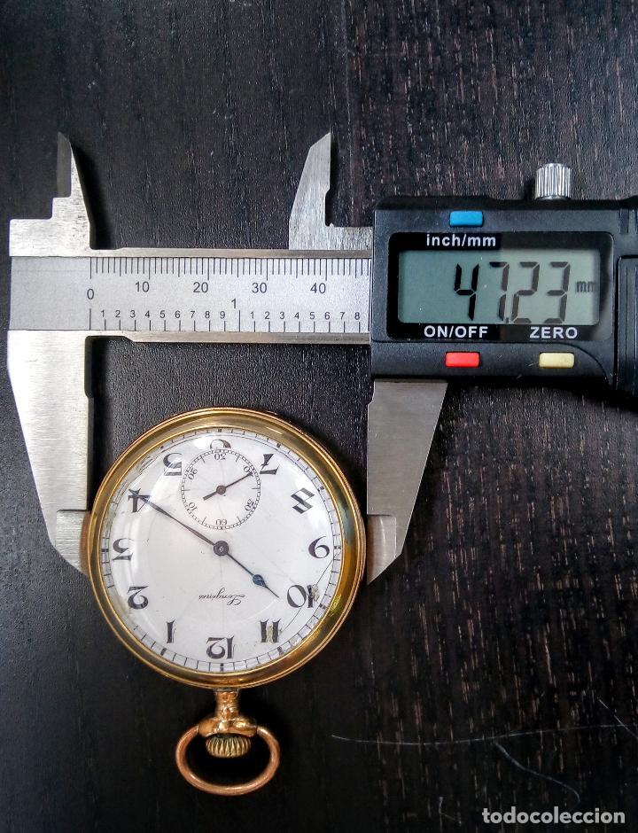 Relojes de bolsillo: Reloj de bolsillo Longines placado en oro c. 1900-1910 - Foto 6 - 110864623