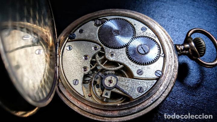 Relojes de bolsillo: Reloj de bolsillo Longines placado en oro c. 1900-1910 - Foto 9 - 110864623
