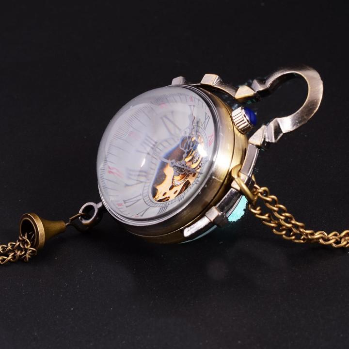Relojes de bolsillo: RELOJ DE BOLA DE CRISTAL A CUERDA NO CUARZO ,FUNCIONANDO - Foto 4 - 176214073