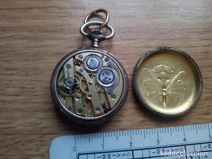 Relojes de bolsillo: Reloj esmaltado de tipo monja. No funciona - Foto 3 - 111473859