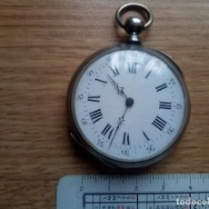Relojes de bolsillo: RELOJ DE PLATA A LLAVES CYLINDRE. NO FUNCIONA PERO EXCELENTE ESTADO. Lote 111474191