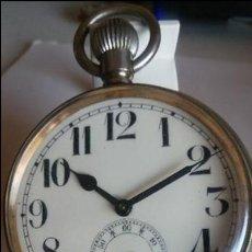 Relojes de bolsillo: GRAN RELOJ DE BOLSILLO NÍQUEL CON ESCENA EN PORCELANA.. Lote 110713535