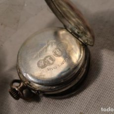 Relojes de bolsillo: RELOJ DE BOLSILLO REMONTOIR DE PLATA. Lote 111845811