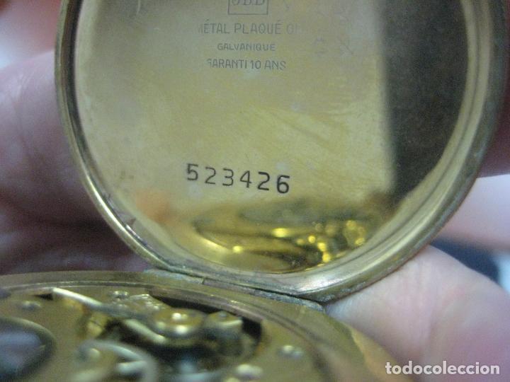 Relojes de bolsillo: BONITO RELOJ DE BOLSILLO MARCA CHRONOMETRE ELCE ART DECO LABRADO CHAPADO EN ORO DE 14 K FUNCIONANDO - Foto 9 - 111910875