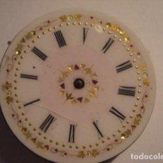 Relojes de bolsillo: MAQUINA RELOJ BOLSILLO CON ESFERA PRECIOSA - NO FUNCIONA - PARA REPARAR O PIEZAS. Lote 112280303