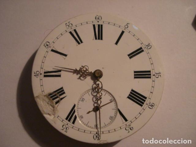 Relojes de bolsillo: RARA Y PRECIOSA MAQUINA RELOJ BOLSILLO CON ESFERA PORCELANA - FUNCIONANDO - Foto 2 - 112281135