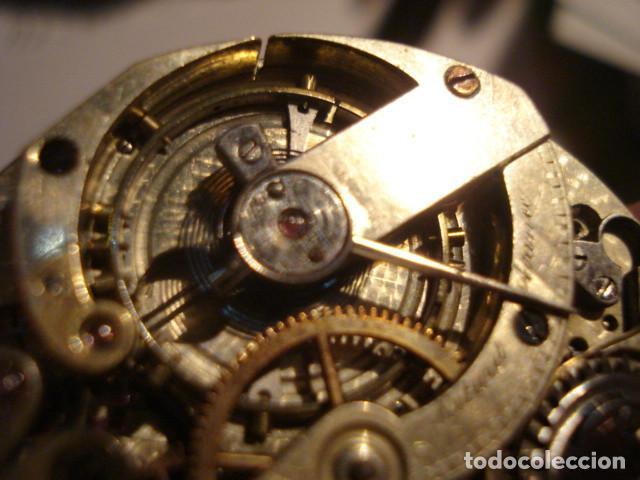 Relojes de bolsillo: RARA Y PRECIOSA MAQUINA RELOJ BOLSILLO CON ESFERA PORCELANA - FUNCIONANDO - Foto 4 - 112281135