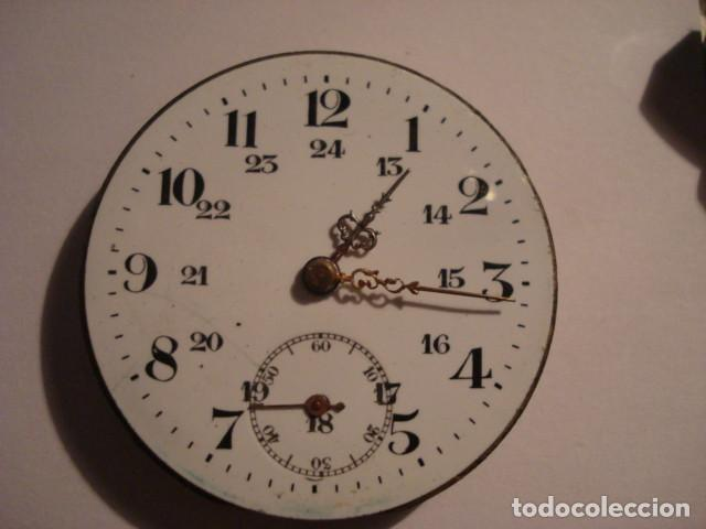 BONITA MAQUINA RELOJ BOLSILLO CON ESFERA PORCELANA - FUNCIONANDO (Relojes - Bolsillo Carga Manual)
