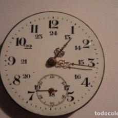 Relojes de bolsillo: BONITA MAQUINA RELOJ BOLSILLO CON ESFERA PORCELANA - FUNCIONANDO. Lote 112281667