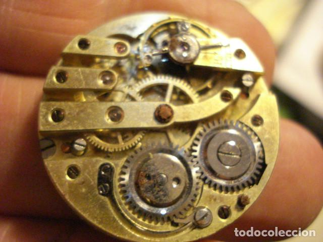 BONITA MAQUINA RELOJ BOLSILLO - FUNCIONA - PARA REPARAR O PIEZAS - SIN ESFERA (Relojes - Bolsillo Carga Manual)