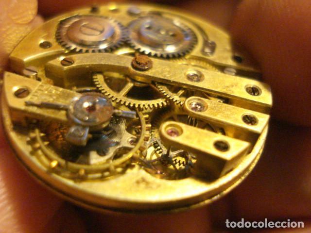 Relojes de bolsillo: BONITA MAQUINA RELOJ BOLSILLO - FUNCIONA - PARA REPARAR O PIEZAS - SIN ESFERA - Foto 3 - 115609556