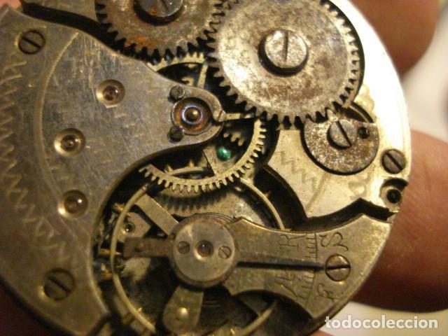 Relojes de bolsillo: BONITA MAQUINA RELOJ BOLSILLO - NO FUNCIONA - PARA REPARAR O PIEZAS - SIN ESFERA - Foto 2 - 112480659