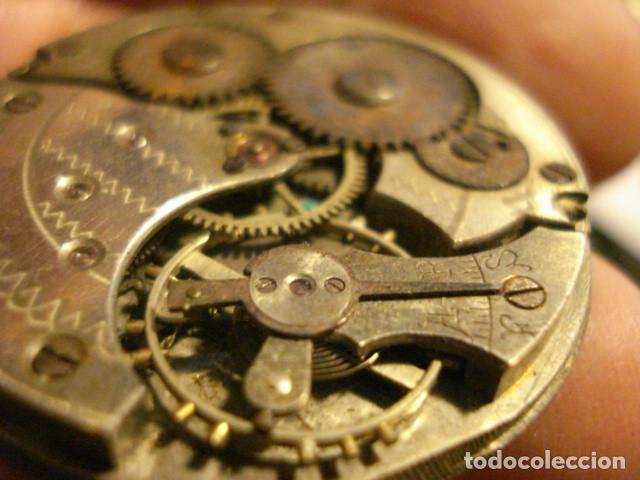 Relojes de bolsillo: BONITA MAQUINA RELOJ BOLSILLO - NO FUNCIONA - PARA REPARAR O PIEZAS - SIN ESFERA - Foto 4 - 112480659