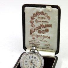 Relojes de bolsillo: RELOJ DE BOLSILLO SIN MARCA EN CAJA ULYSSE NARDIN, VER FOTOS ANEXAS. Lote 112546383