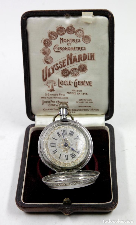 Relojes de bolsillo: RELOJ DE BOLSILLO SIN MARCA EN CAJA ULYSSE NARDIN, VER FOTOS ANEXAS - Foto 8 - 112546383