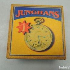 Relojes de bolsillo: IMPRESIONANTE CAJA DE RELOJ DE BOLSILLO MARCA JUNGHANS MUY BUEN ESTADO. Lote 112749451