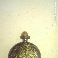 Relojes de bolsillo: RELOJ EN METAL GRABADO PIEZA COLECCION. Lote 112966383