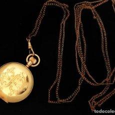 Relojes de bolsillo: ELEGANTE RELOJ DE BOLSILLO, BAÑADO EN ORO, DE LA MARCA WALTHAM, ORIGEN AMERICANO, DE CUERDA MANUAL . Lote 113008083