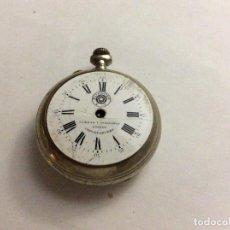 Relojes de bolsillo: RELOJ DE BOLSILLO ROSKOPF CUERVO Y SOBRINOS HABANA DIAM. 46 MM. Lote 113030839