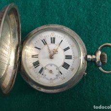 Relojes de bolsillo: RELOJ DE BOLSILLO PLATA 57MM SUIZO. Lote 182146202