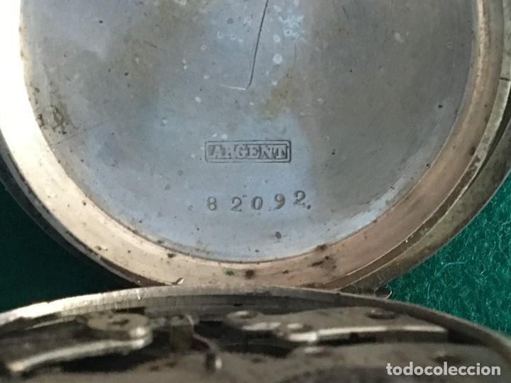 Relojes de bolsillo: Reloj de bolsillo plata 57mm suizo - Foto 3 - 182146202
