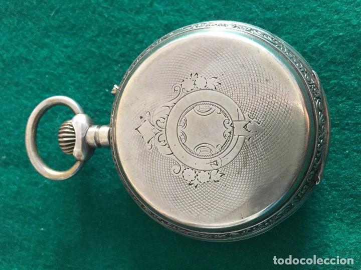 Relojes de bolsillo: Reloj de bolsillo plata 57mm suizo - Foto 5 - 182146202
