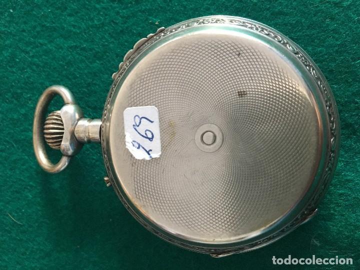 Relojes de bolsillo: Reloj de bolsillo plata 57mm suizo - Foto 6 - 182146202