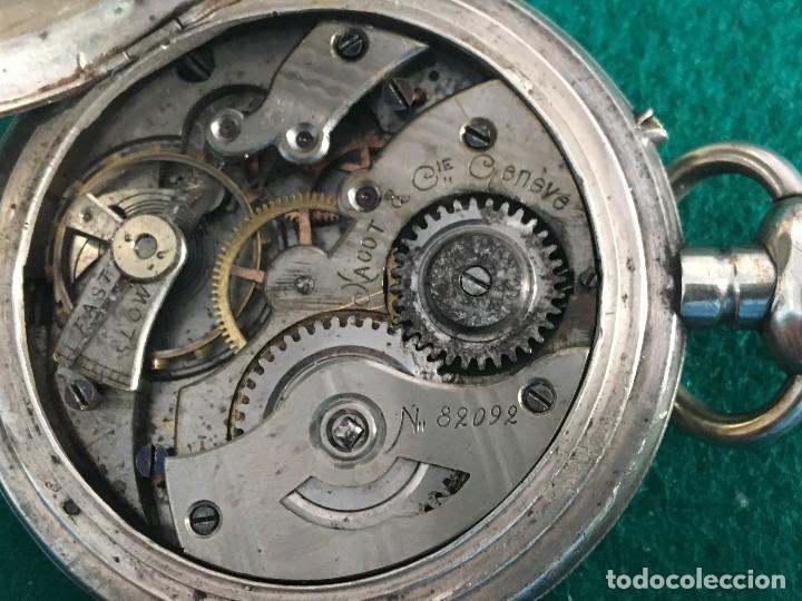 Relojes de bolsillo: Reloj de bolsillo plata 57mm suizo - Foto 10 - 182146202