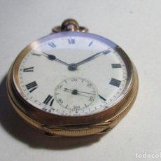 Relojes de bolsillo: RELOJ REPARAR CHAPADO EN ORO NO FUNCIONA INTERESANTE. Lote 113299327
