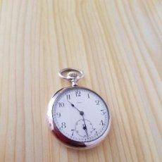 Relojes de bolsillo: RELOJ ANTIGUO OMEGA GRAN TAMAÑO DE PLATA LABRADA FUNCIONA PARA COLECION . Lote 113314215
