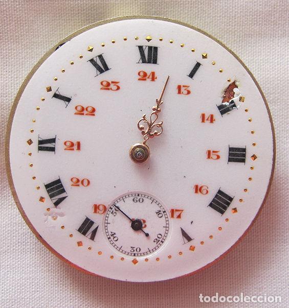 MAQUINA Y ESFERA RELOJ DE BOLSILLO ANTIGUO (Relojes - Bolsillo Carga Manual)
