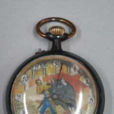 Relojes de bolsillo: RELOJ DE BOLSILLO. AUTOMATA. MOTIVO TAURINO. Lote 113584147