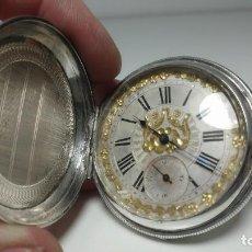 Relojes de bolsillo: RELOJ DE BOLSILLO EN PLATA DE 4 TAPAS GENEVE. Lote 113911379