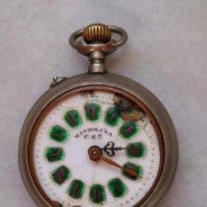 Relojes de bolsillo: ANTIGUO RELOJ DE CARGA MANUAL MARCA MANDOLINA C.M.G.. Lote 114011283