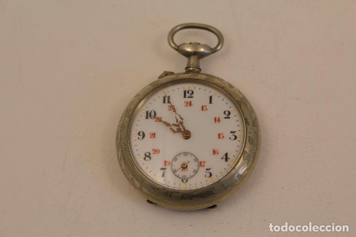 Relojes de bolsillo: reloj de bolsillo en plata de ley argentam - Foto 2 - 114132339