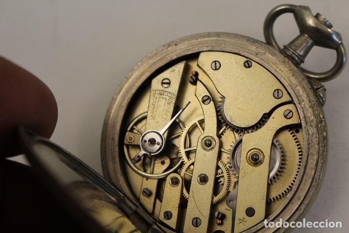 Relojes de bolsillo: reloj de bolsillo en plata de ley argentam - Foto 3 - 114132339