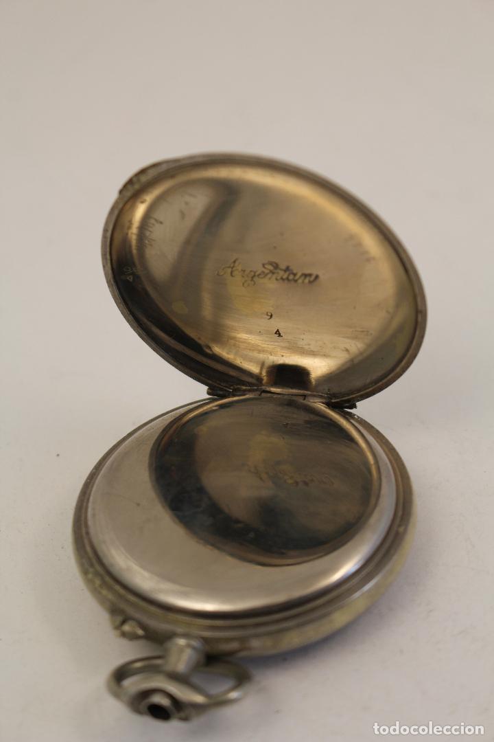 Relojes de bolsillo: reloj de bolsillo en plata de ley argentam - Foto 5 - 114132339