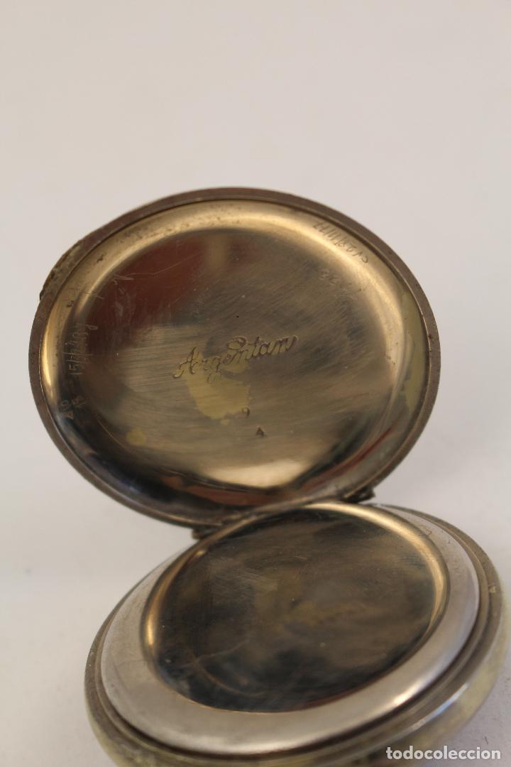 Relojes de bolsillo: reloj de bolsillo en plata de ley argentam - Foto 6 - 114132339