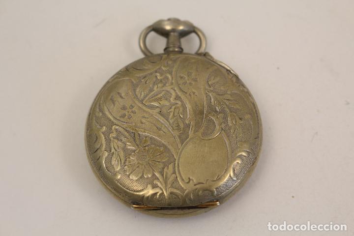 Relojes de bolsillo: reloj de bolsillo en plata de ley argentam - Foto 7 - 114132339