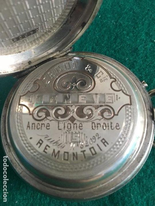 Relojes de bolsillo: Reloj de bolsillo plata 57mm suizo - Foto 7 - 182146202