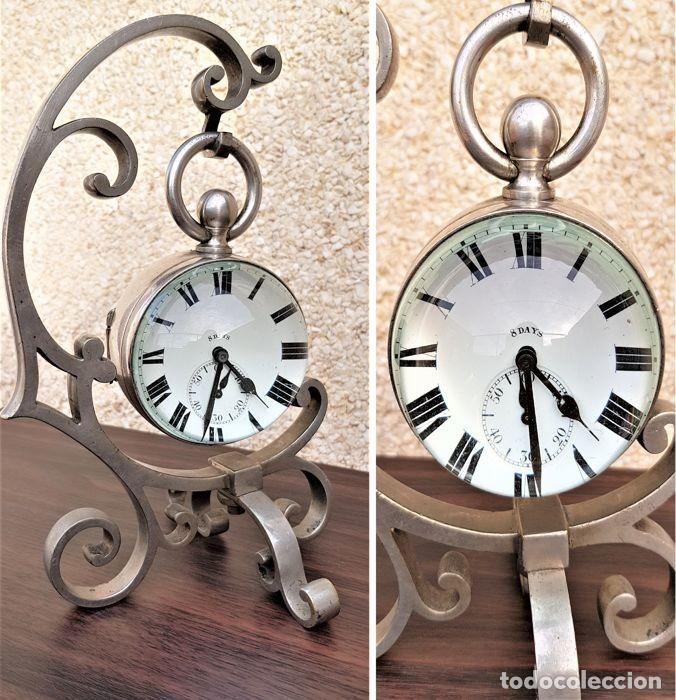 ANÓNIMO. CONJUNTO X2 PIEZAS - RELOJ BOLA CRISTAL + SOPORTE XXL CIRCA 1850/1900 ¡¡¡OFERTA SOLO HOY ! (Relojes - Bolsillo Carga Manual)