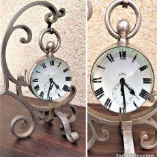 Relojes de bolsillo: ANÓNIMO. CONJUNTO X2 PIEZAS - RELOJ BOLA CRISTAL + SOPORTE XXL CIRCA 1850/1900 ¡¡¡OFERTA SOLO HOY !. Lote 114808679